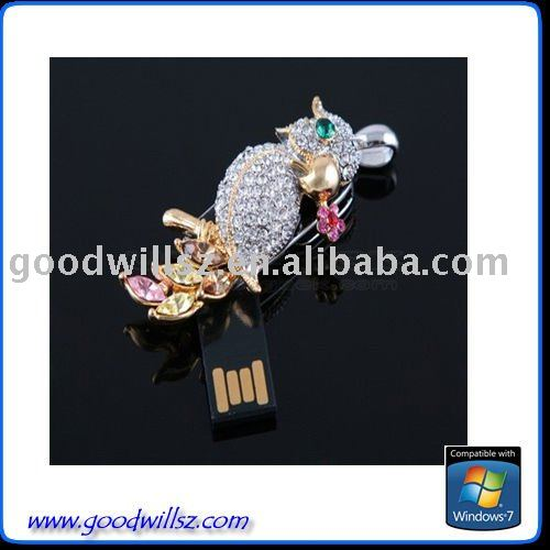 owl jewelry USB Flash Drive3.0
