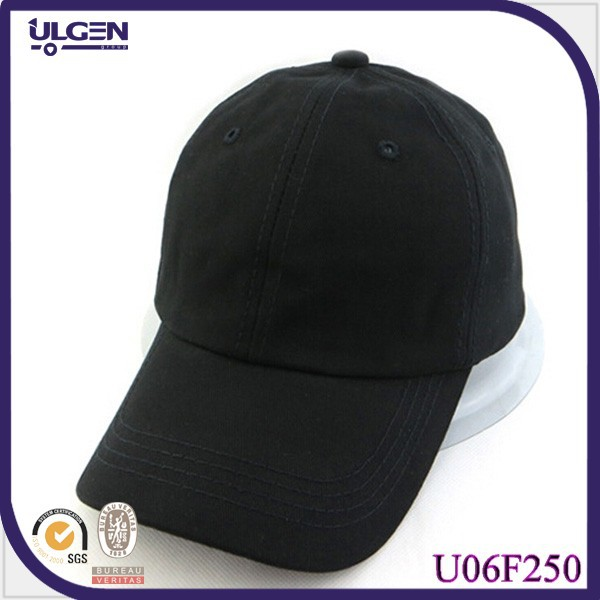 High quality black baseball cap for adult custom fitted baseball cap plain baseball caps