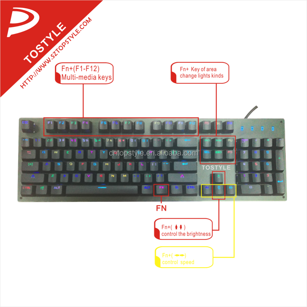 TOPSTYLE K-319 mechanical RGB keyboard