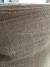 eco jute burlap rolls with over-lock stitching, Bio-degradable jute hessian fabric roll wholesale