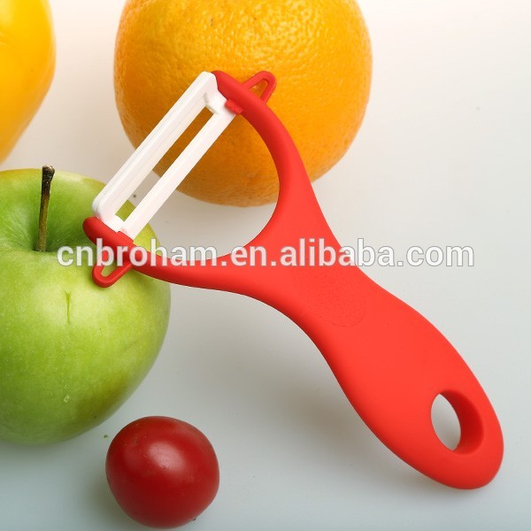 Sharping ceramic chef and slicing knife peeler set