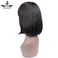 Fashion short wigs human hair frontal lace wigs custom made wigs for african americans