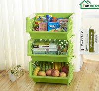Big size Plastic storage box, storage container,kitchen Fruits and vegetables storage rack