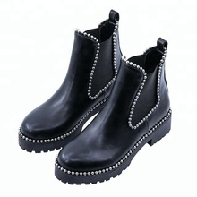 russian studded flat sole winter tactical women ankle boots