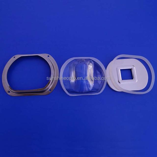 20w 50w 100w aspheric led glass lens with reflector