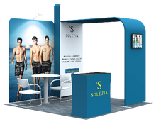 3x3m portable display rack fashion aluminum tube and fabric custom trade show display booth design