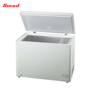 200-300L Commercial solid door ice cream top open chest deep freezer