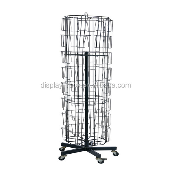 cheap rotating metal greeting poster card display racks for sale HSX-100