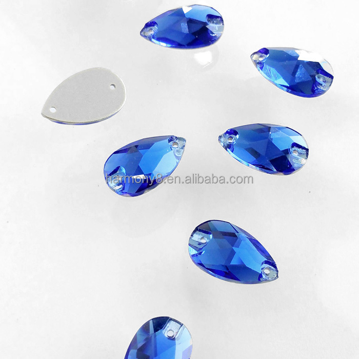 Wholesale water drop sewing stones accessories