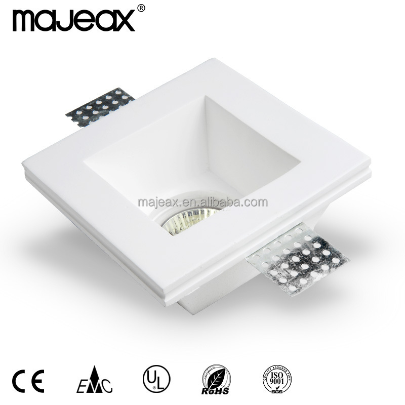 gypsum downlight Plaster down lights Recessed Downlight GU10 fixture