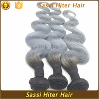 High Quality Tangle Free Grey Remy 27 Piece Human Hair Weave