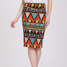 Latest Women Pencil Skirts New Fashion Summer African Print Skirt