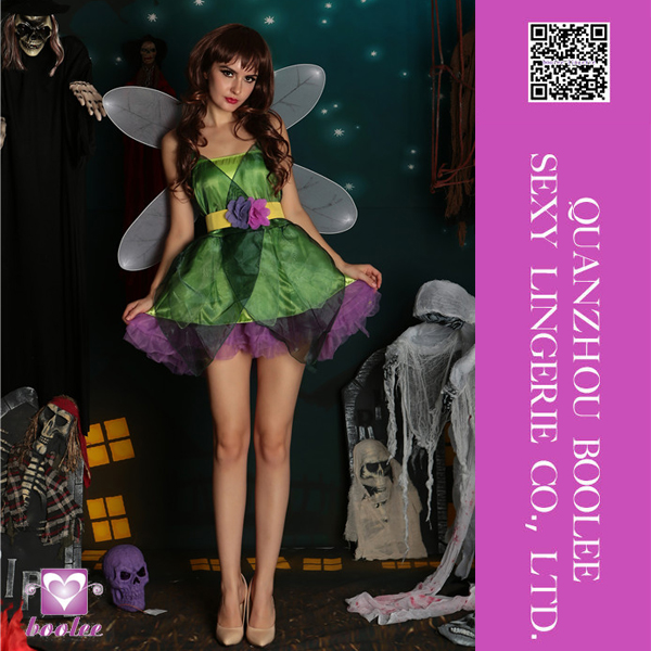 Unique design halloween beautiful sleeveless sexy fairytales costumes