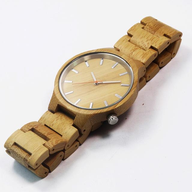 Custom environmentally friendly watches handmade mens watches Japan quartz movement 3atm rose gold wood watch
