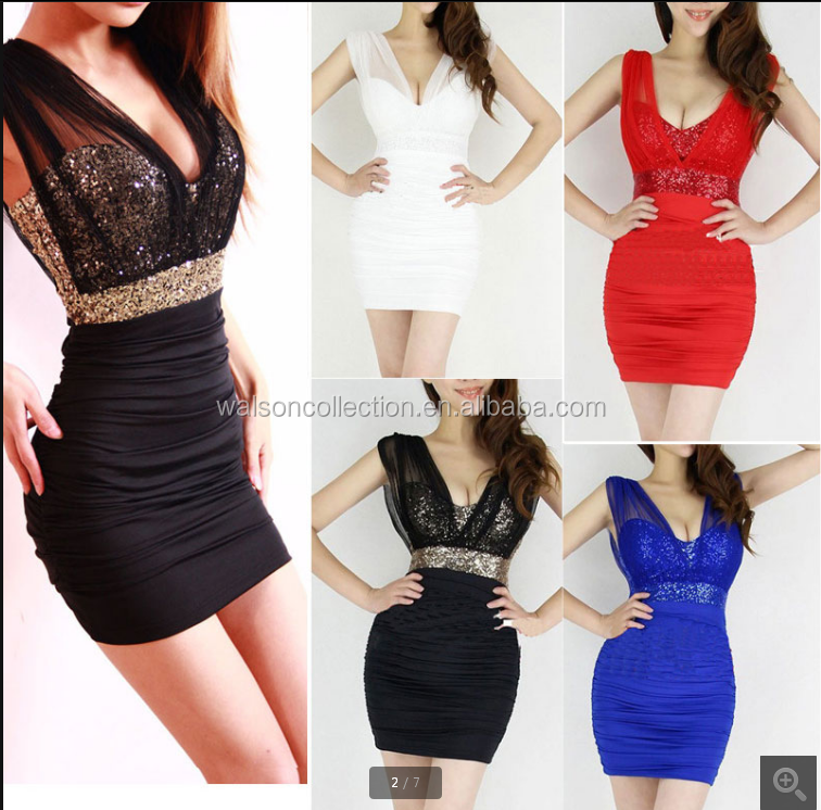2015 New Summer dress Sexy Short Tight Lace Dress Mini bodycon Luxury Club Satin Women Clothing sequined Party Evening dresses