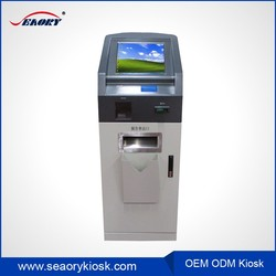 key card dispenser kiosk with receipt printer,ticket vending kiosk machine,nfc card reader kiosk
