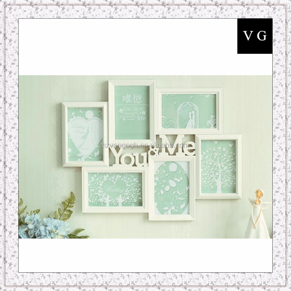 Plastic glass photo frame hanging wall 6 inch photo frame studio wedding photo frame wholesale