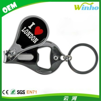 Winho Round Stainless Steel Nail Clipper With Bottle Opener