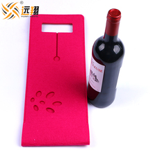 Factory direct sale polyester felt red wine bag
