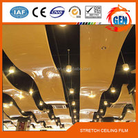 Printed pvc stretch ceiling film waterproof up to 2.35 meters to 3.2 meters wide for airport