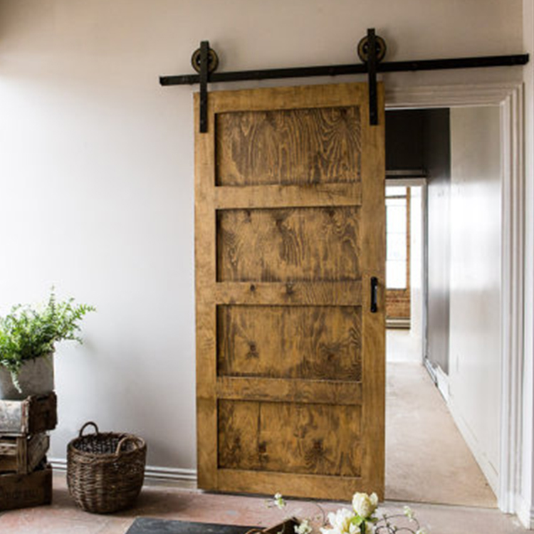 Low Price Living Room Wood Door Design Fire Rated Sliding Barn Doors