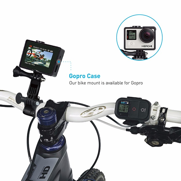 2016 hot selling bike display cell phone stand motorcycle bike handlebar phone mount with aluminium alloy
