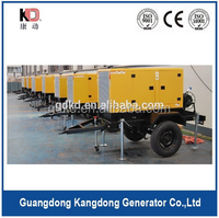 Trailer/mobile diesel generating set with low fuel consumption