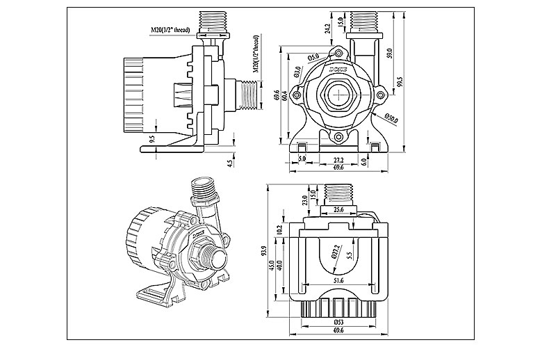 High-quality Durable High Pressure Water Pump Factory Direct