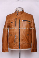 Trendy Lighcolor Man Cow Leather Jacket