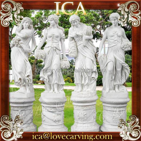 four season goddess marble statues for garden