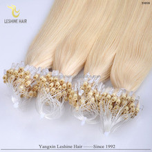 Hot Srrival Ali Express Russian Silky Wholesale Italian Glue human hair extensions easy loop micro ring