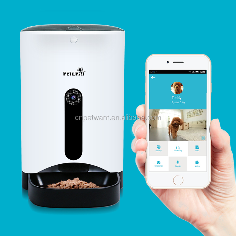 App Operated Smart Pet Feeder with Webcam wifi Dog Automatic Feeder