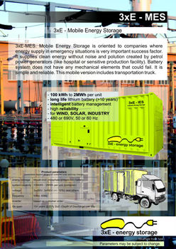 3xE-MES: Mobile Energy Storage