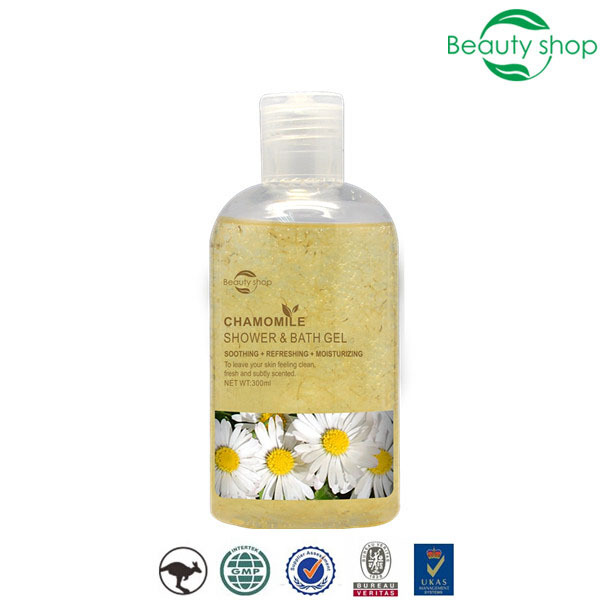 300ml Chamomile Moisturizing Shower and bath gel with chamomile petals