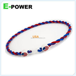 2014 world cup souvenier jewellry flag necklace promotional magnetic silicon necklace