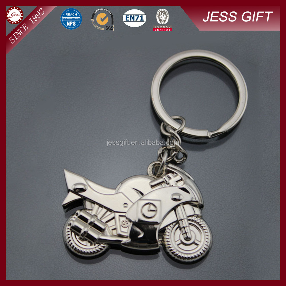 Motorcycle Keychain Metal Zinc Alloy Motorcycle Key Ring Promotional Gifts