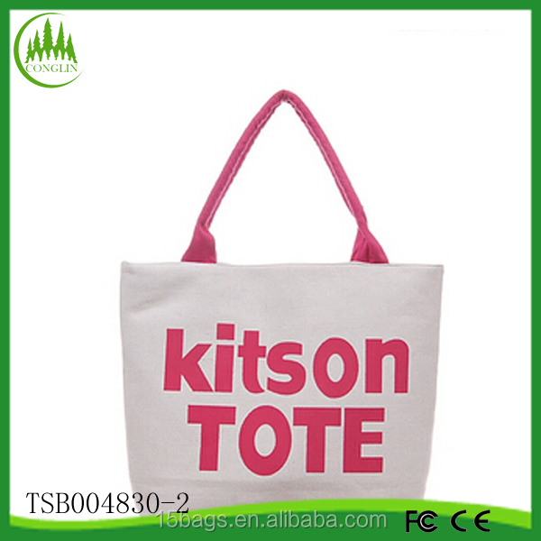 New product wholesale fashion women Eco canvas simple tote bag