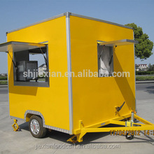 Chinese coffee or mobile kebab refrigerated van, used fast food truck, food van for sale