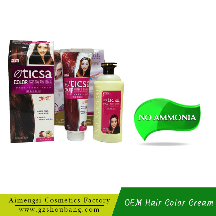 OEM Private Label Natural Harmless No Ammonia Hair Dye Manufacturer