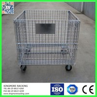 Metal Storage cage/wire mesh container uesd in warehouse