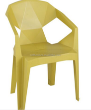 Wholesale Cheap Stackable Patio Polyphenylene PP Plastic Dining Chairs Garden Chair With Arm