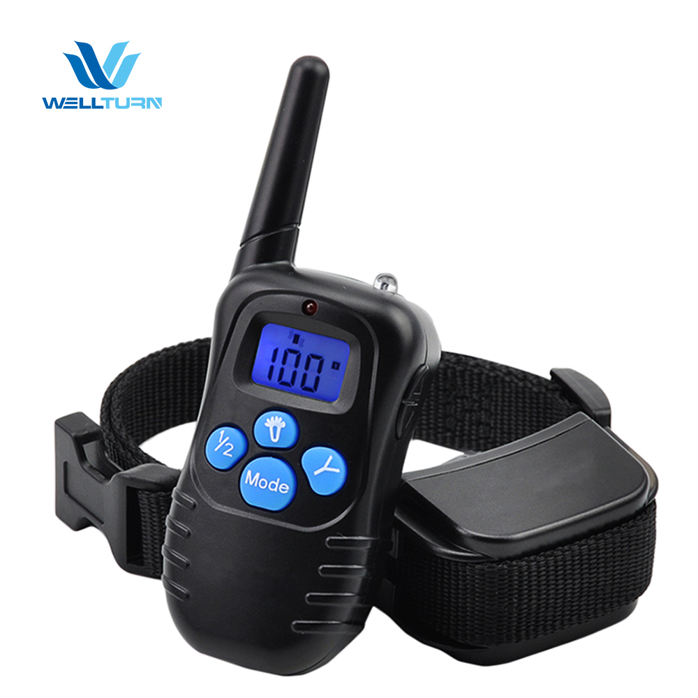 Pet Training Electronic Dog Shock Collar Electric Petrainer Remote Collar Shock Training Stop Barking Dogs No Bark Control