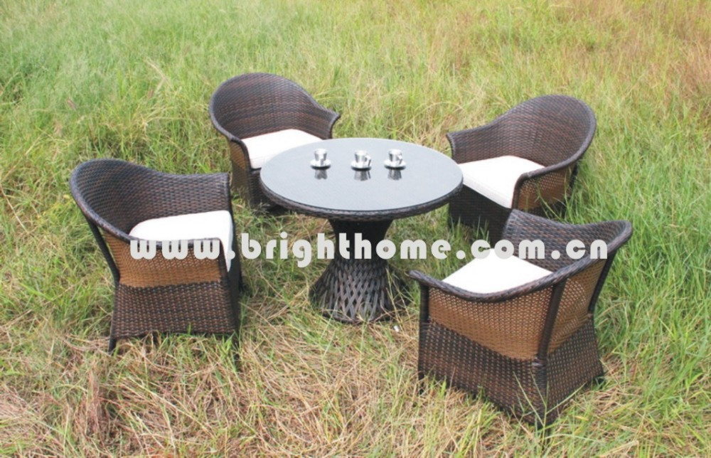 Dining Chair & Table BP-375 PE rattan wicker outddor furniture