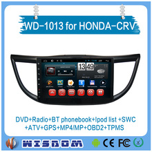 2016 quality oem 10.1'' full touch Screen android system car dvd for Honda CRV japan car audio multimedia video player car gps