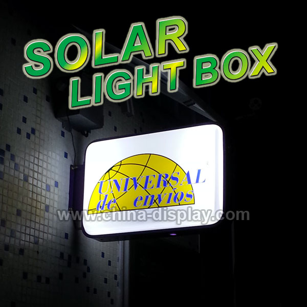 Outdoor waterproof vacuum foam solar light box led display board with solar system