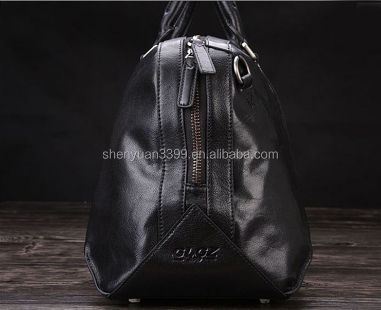 Imported China goods hot sale Crazy-horse leather duffle Bag Weekend Travel Bag with Shoes Compartment