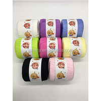 100% artificial cotton knitting yarn with multi colors