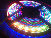 Commercial lighting 5050 RGB SMD flexible led strip 32led/m Black Waterproof Addressable ws2801 Strip