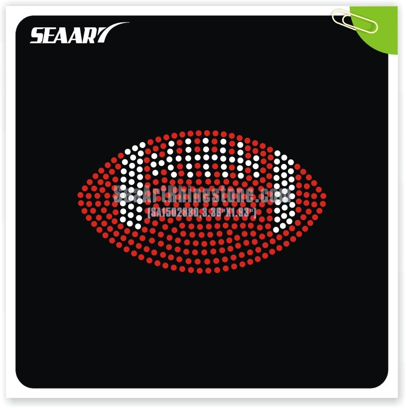 rugby heat rhinestone transfer for garment