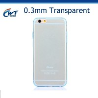 3D TPU phone case silicone phone case for iphone 6,soft thin 0.3mm transparent tpu case for iphone 6